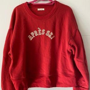 Graphic Red, Cropped Sweatshirt